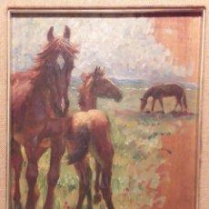 Arte: RENÉ CHOQUET (1872-1958).- LLEGUA Y POTRO. Lote 141736914