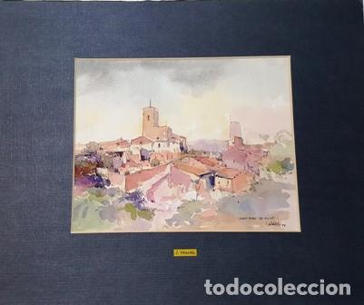 PINTURA ACUARELA - SANT PERE DE RIBES - BCN - DE JOSEP MARFA GUARRO - BARCELONA - Nº1 C - (Arte - Pintura Directa del Autor)
