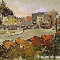 Arte: PINTURA ACUARELA - HOSPITALET - BCN - DE JOSEP MARFA GUARRO - BARCELONA - Nº1 C -. Lote 141738426