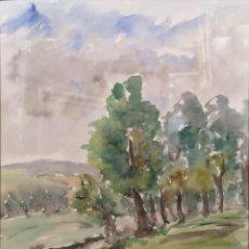 Arte: SEVILLANO, ÁNGEL. (VIGO, 1942-1994) PAISAJE. ACUARELA. Lote 141777978
