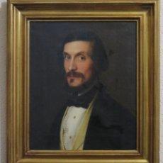 Arte: RETRATO DE CABALLERO. LUIS LOPEZ PIQUER (VALENCIA, 1802-MADRID, 1865). OLEO S/ LIENZO. Lote 141843074