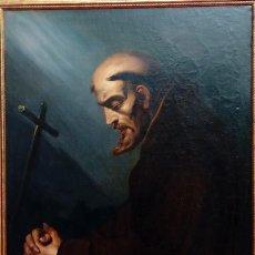 Arte: ÓLEO S/LIENZO -SAN FRANCISCO EN ORACIÓN- DE JOSÉ MARÍA RODRÍGUEZ LOSADA-. DIM.- 115.5X92.5 CMS.. Lote 141880258