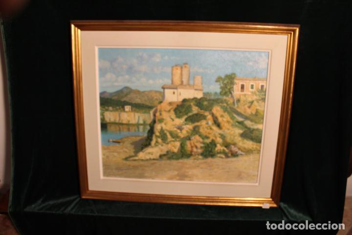 OLEO SOBRE LIENZO ESCUELA MALLORQUINA MOLINOS (Arte - Pintura - Pintura al Óleo Moderna siglo XIX)