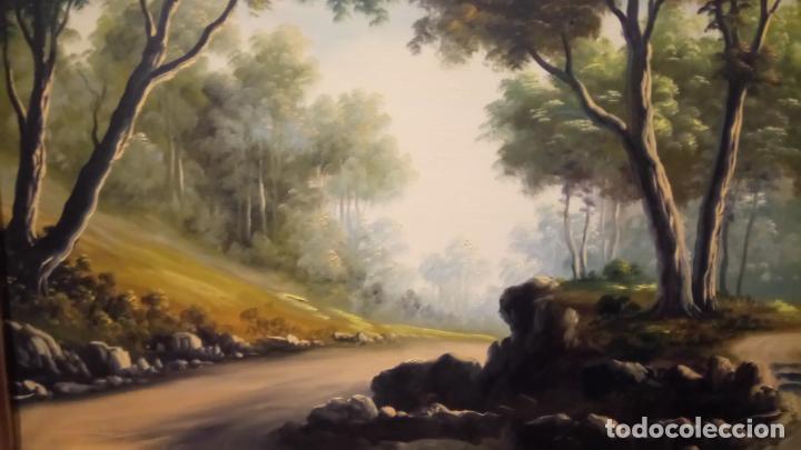 Arte: Pintura al oleo de bosque español de d.pastor . cuadro grande de sala de estar o comedor - Foto 2 - 142066518