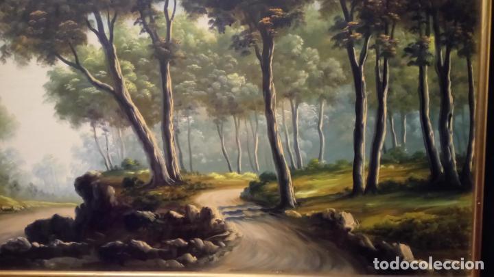 Arte: Pintura al oleo de bosque español de d.pastor . cuadro grande de sala de estar o comedor - Foto 3 - 142066518