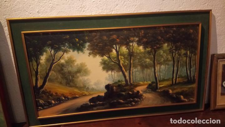 Arte: Pintura al oleo de bosque español de d.pastor . cuadro grande de sala de estar o comedor - Foto 6 - 142066518