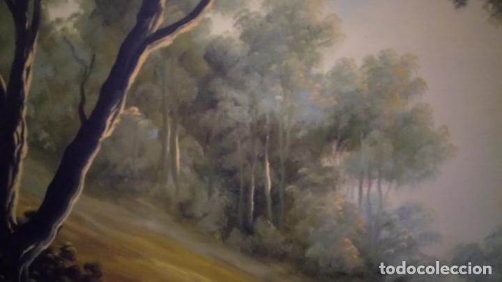Arte: Pintura al oleo de bosque español de d.pastor . cuadro grande de sala de estar o comedor - Foto 12 - 142066518
