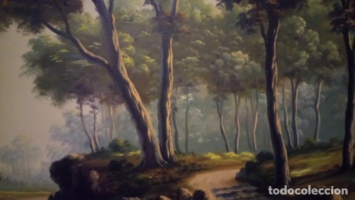 Arte: Pintura al oleo de bosque español de d.pastor . cuadro grande de sala de estar o comedor - Foto 13 - 142066518
