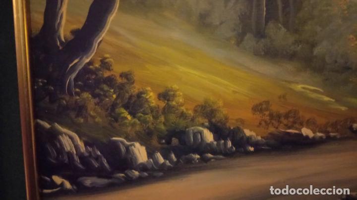 Arte: Pintura al oleo de bosque español de d.pastor . cuadro grande de sala de estar o comedor - Foto 14 - 142066518