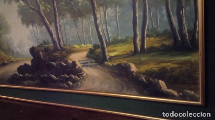 Arte: Pintura al oleo de bosque español de d.pastor . cuadro grande de sala de estar o comedor - Foto 17 - 142066518