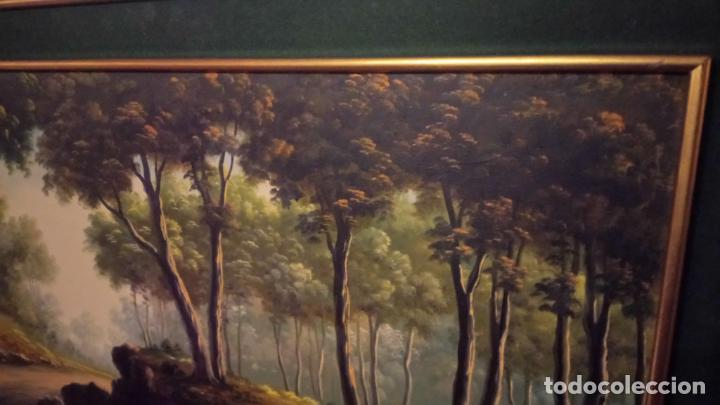 Arte: Pintura al oleo de bosque español de d.pastor . cuadro grande de sala de estar o comedor - Foto 18 - 142066518