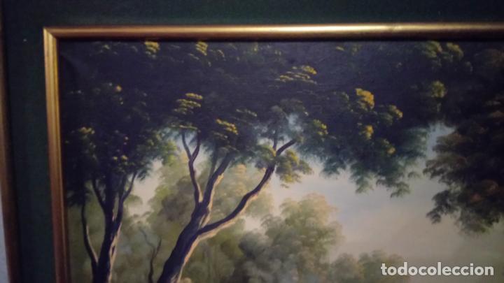 Arte: Pintura al oleo de bosque español de d.pastor . cuadro grande de sala de estar o comedor - Foto 19 - 142066518