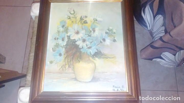 PRECIOSA PINTURA AL OLEO SOBRE TABLA,FLORAL-FIRMADO ROCIO A. (Arte - Pintura - Pintura al Óleo Moderna sin fecha definida)