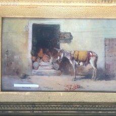 Arte: PHILIPPE PAVY , ÓLEO SOBRE TABLA , MÁLAGA . OBRA ORIGINAL FIRMADA Y DEDICADA. Lote 142150222
