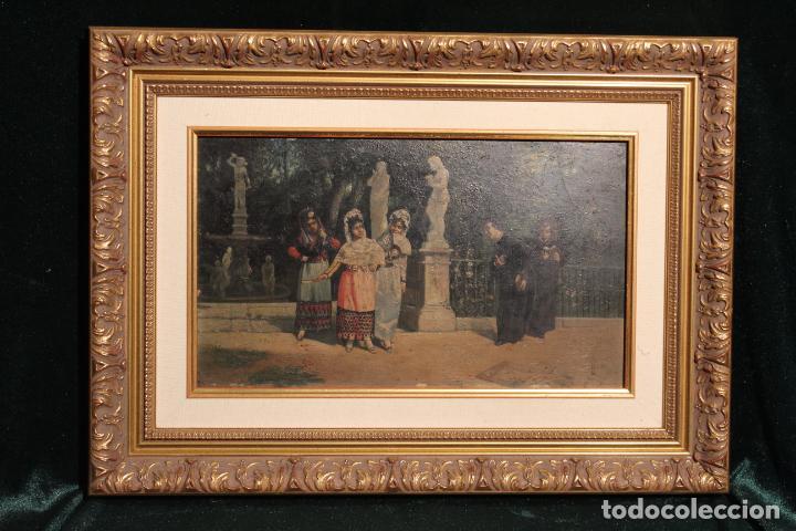 OLEO SOBRE TABLA (Arte - Pintura - Pintura al Óleo Moderna siglo XIX)