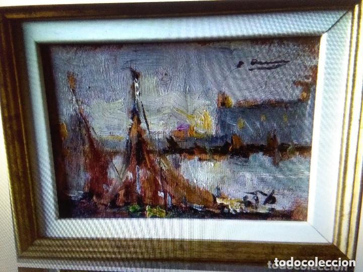ASENCIO MARINE JOAQUIM ( TAMAÑO POSTAL) OLEO SOBRE TABLA (Arte - Pintura - Pintura al Óleo Contemporánea )