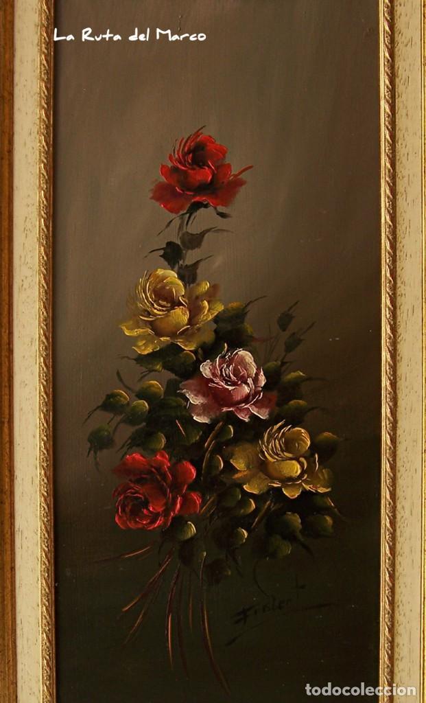 Arte: Ramo de Flores - Cuadro de óleo enmarcado - Firmado: Frislert - Foto 2 - 142191242