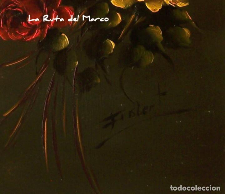 Arte: Ramo de Flores - Cuadro de óleo enmarcado - Firmado: Frislert - Foto 3 - 142191242