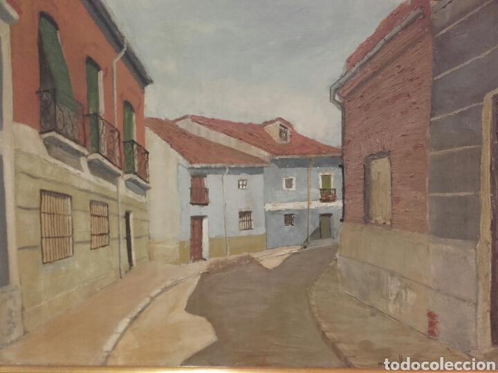CALLE DEL POZO (SAN NICOLÁS), VALLADOLID. PINTURA ÓLEO/LIENZO. AUTOR: MELCHOR AVECILLA ESPINOSA. (Arte - Pintura - Pintura al Óleo Moderna sin fecha definida)
