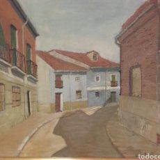 Arte: CALLE DEL POZO (SAN NICOLÁS), VALLADOLID. PINTURA ÓLEO/LIENZO. AUTOR: MELCHOR AVECILLA ESPINOSA.. Lote 142192762