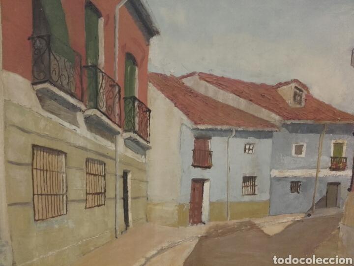 Arte: CALLE DEL POZO (SAN NICOLÁS), VALLADOLID. PINTURA ÓLEO/LIENZO. AUTOR: MELCHOR AVECILLA ESPINOSA. - Foto 2 - 142192762