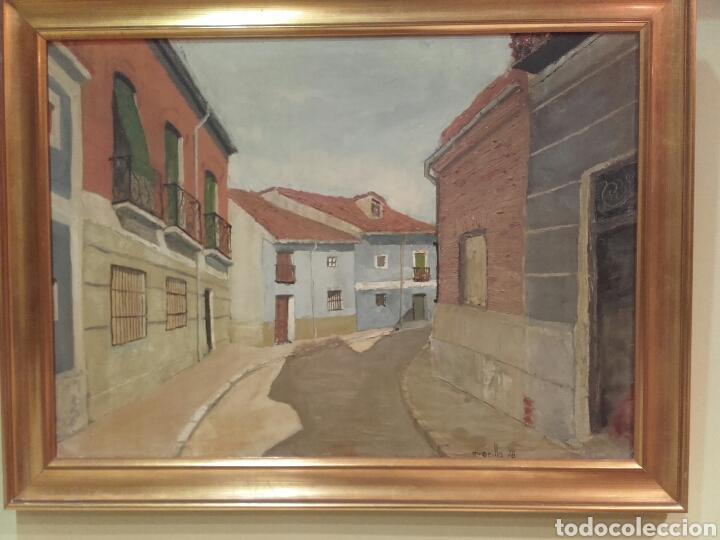 Arte: CALLE DEL POZO (SAN NICOLÁS), VALLADOLID. PINTURA ÓLEO/LIENZO. AUTOR: MELCHOR AVECILLA ESPINOSA. - Foto 5 - 142192762
