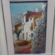 Arte: ÓLEO SOBRE TABLA FIRMADO O. PUIG 82.MUCHA PASTA Y COLORIDO.PAISAJE CANARIO?. Lote 142221230