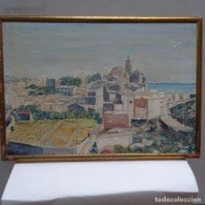 Arte: OLEO SOBRE TE,A DE CADAQUES.FIRMADO J.NAVAS 1974.. Lote 142221898