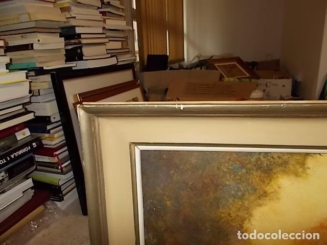 Arte: IMPRESIONANTE ÓLEO DE LUCIEN FRANK CON MARCO DE LOS BENNÀSSAR. INCLUYE PANFLETO EN EL REVERSO. - Foto 6 - 142226058