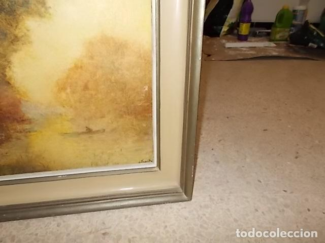 Arte: IMPRESIONANTE ÓLEO DE LUCIEN FRANK CON MARCO DE LOS BENNÀSSAR. INCLUYE PANFLETO EN EL REVERSO. - Foto 8 - 142226058