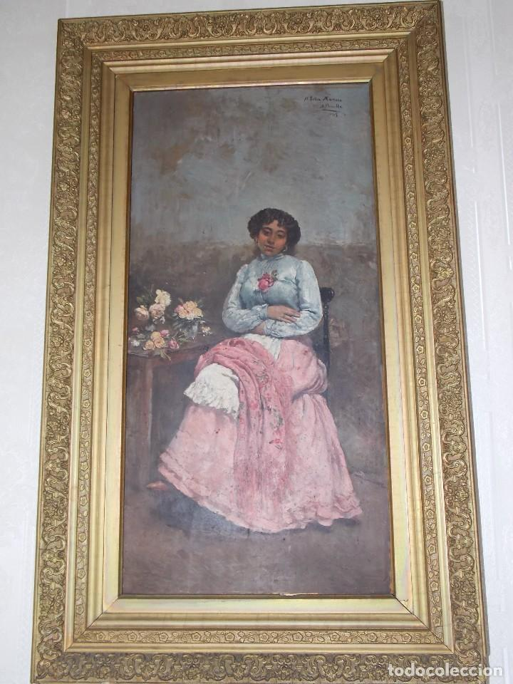 ANTIGUO OLEO SOBRE TABLA TABLILLA (Arte - Pintura - Pintura al Óleo Moderna siglo XIX)