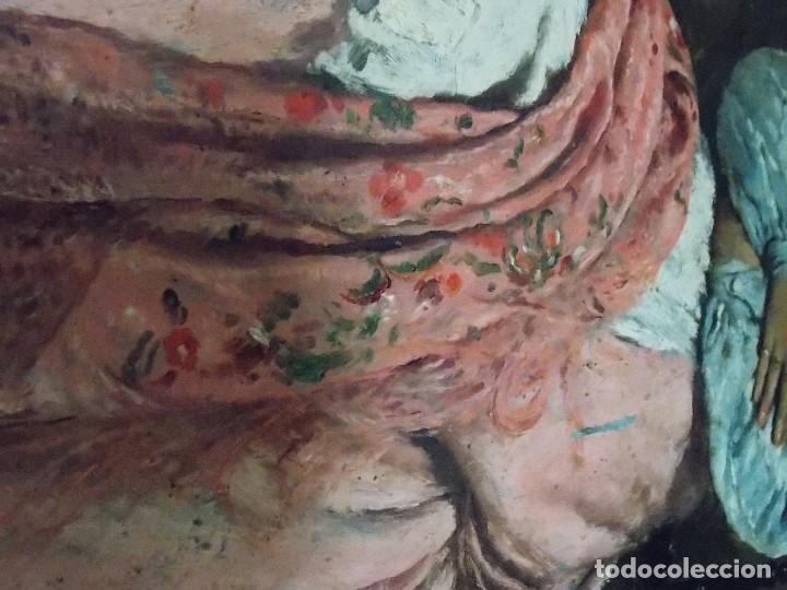 Arte: ANTIGUO OLEO SOBRE TABLA TABLILLA - Foto 5 - 142295226