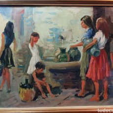 Arte: EN LA FUENTE POR DOMINGO CAMPOY ABELLÁN. Lote 142320441
