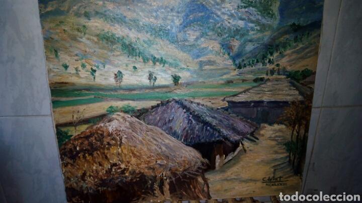 OLEO SOBRE LIENZO 65 X 54 CM , FIRMADO (Arte - Pintura - Pintura al Óleo Moderna sin fecha definida)