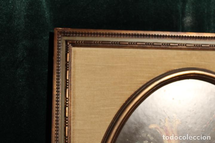 Arte: oleo sobre tablex florero oval - Foto 2 - 142381890