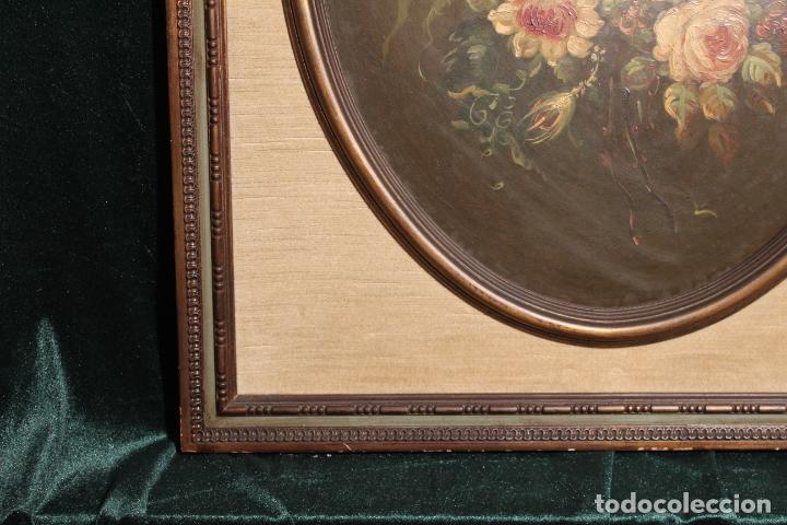 Arte: oleo sobre tablex florero oval - Foto 3 - 142381890