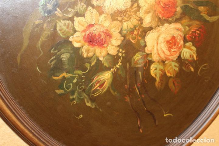Arte: oleo sobre tablex florero oval - Foto 4 - 142381890