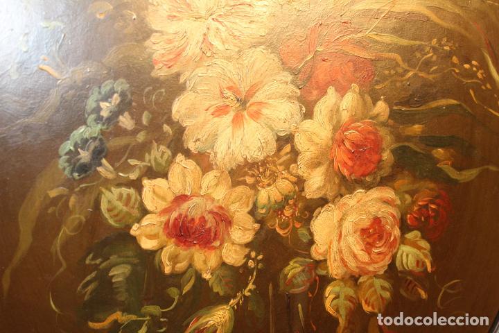 Arte: oleo sobre tablex florero oval - Foto 5 - 142381890