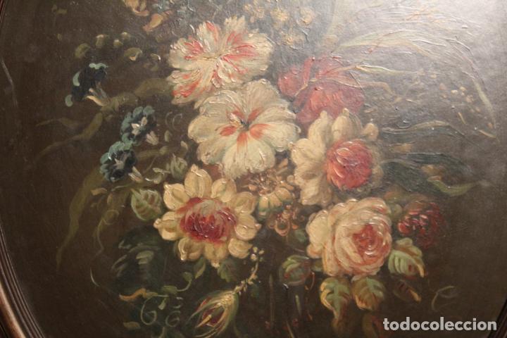 Arte: oleo sobre tablex florero oval - Foto 8 - 142381890