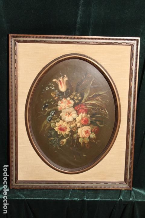 Arte: oleo sobre tablex florero oval - Foto 10 - 142381890