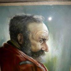 Arte: CUADRO PINTURA SOBRE TABLA DE ANCIANO FIRMADO J. SPOON ACRISTALADO MUY INTERESANTE. Lote 103967355