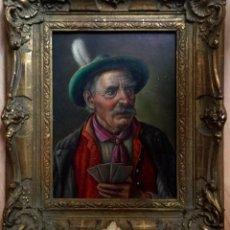 Arte: WALTER ROESSLER (ALEMANIA 1893-1960) RETRATO MASCULINO JUGANDO A LAS CARTAS VENDIDO EN CRISTIES 1991. Lote 142414150