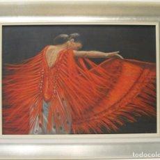 Arte: BAILAORA - ASIAN - ACRÍLICO SOBRE LIENZO - 90X70 CM. Lote 142425764