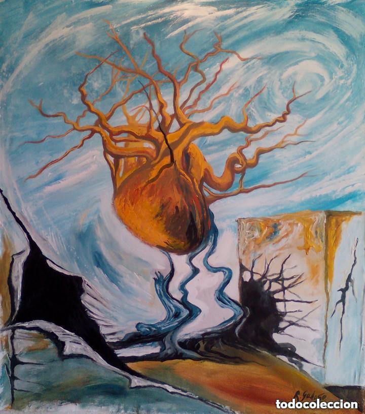 PINTURA SOBRE TELA ORIGINAL SURREALISTA FIRMADA (Arte - Pintura - Pintura al Óleo Contemporánea )