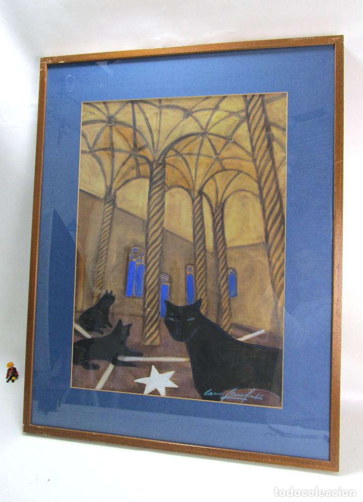 Lonja De Valencia Salon Gotico Cuadro Pintura 93x73cm Carmen Garcia Gordillo