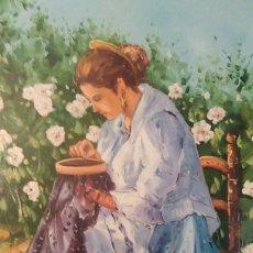 Arte: PINTURA AL OLEO CON BORDADORA. FIRMADO.. Lote 142511246