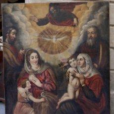 Arte: LAS DOS TRINIDADES, ESCUELA ESPAÑOLA S.XVII. ÓLEO SOBRE LIENZO 170X135 CM.. Lote 142536954