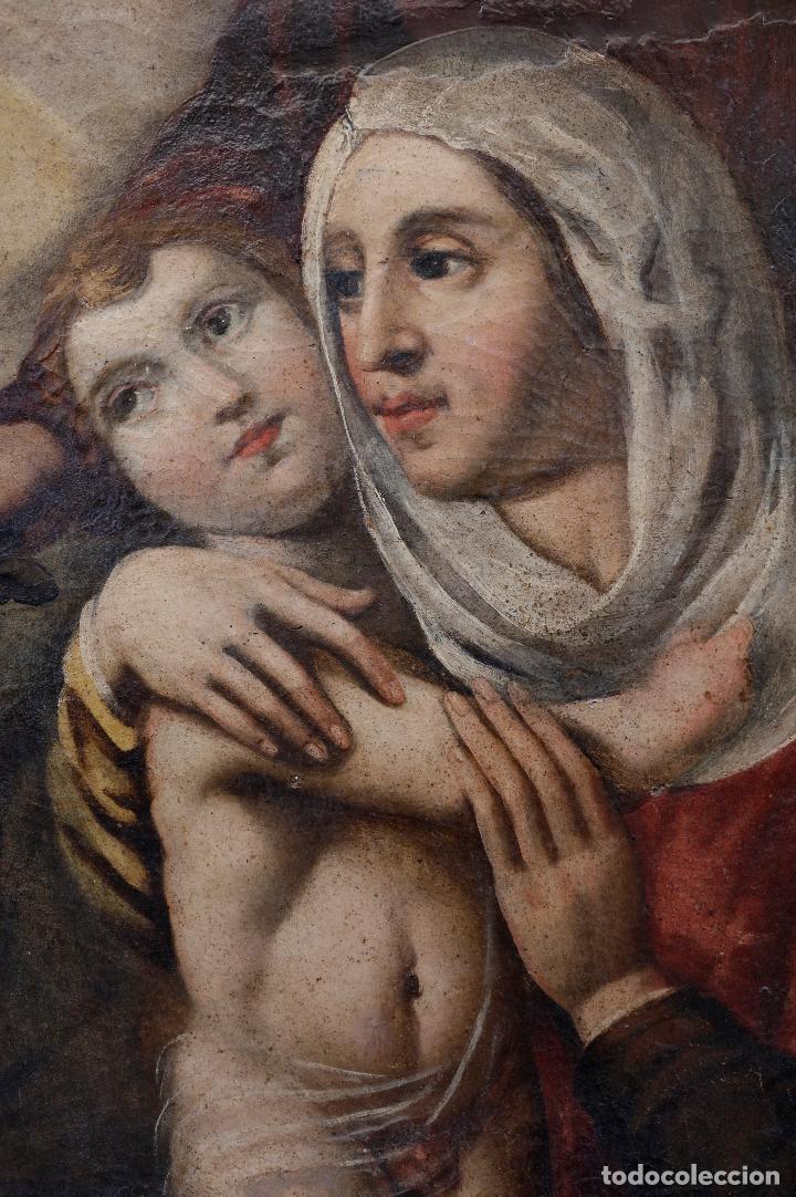 Arte: Las dos trinidades, Escuela española s.XVII. Óleo sobre lienzo 170x135 cm. - Foto 3 - 142536954