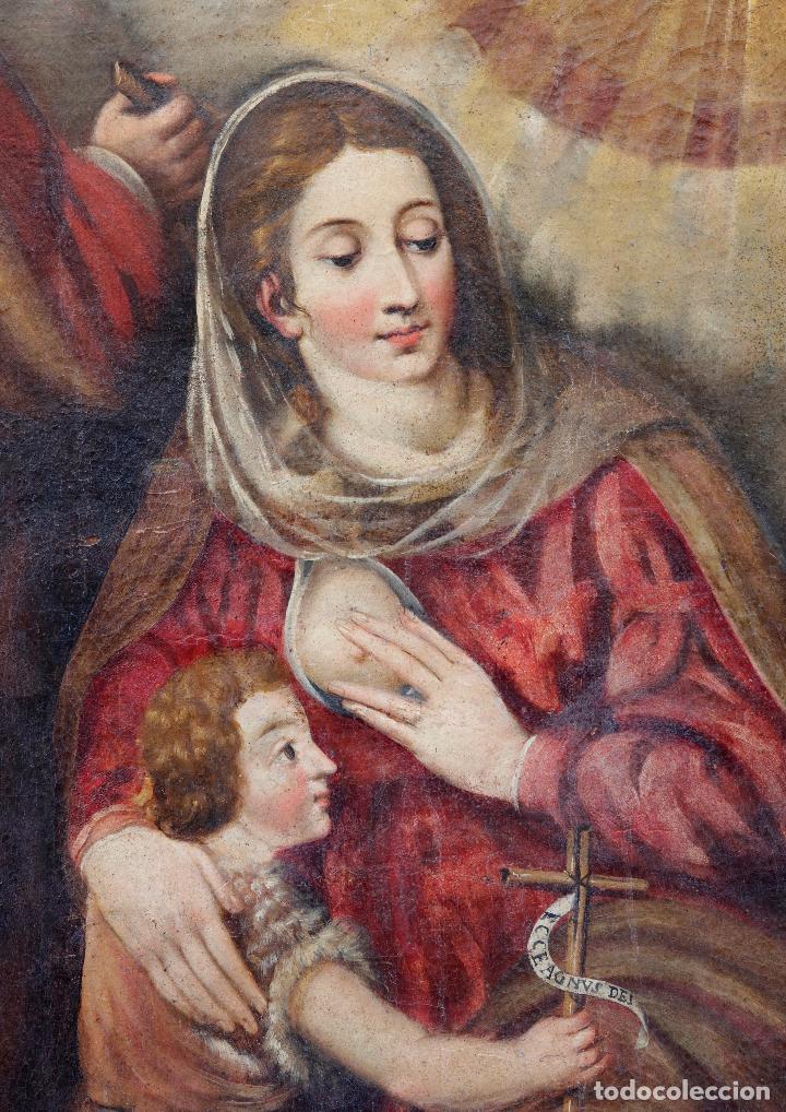 Arte: Las dos trinidades, Escuela española s.XVII. Óleo sobre lienzo 170x135 cm. - Foto 5 - 142536954