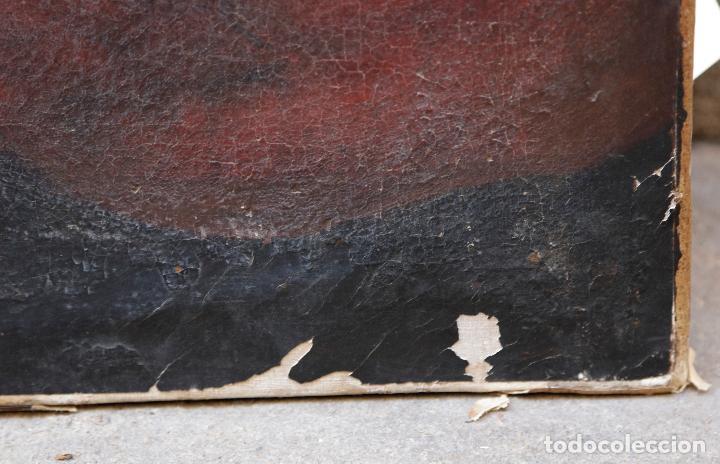 Arte: Las dos trinidades, Escuela española s.XVII. Óleo sobre lienzo 170x135 cm. - Foto 8 - 142536954